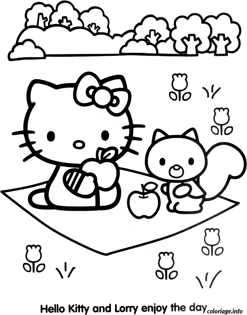 Coloriage Dessin Hello Kitty 80 Jecolorie Com