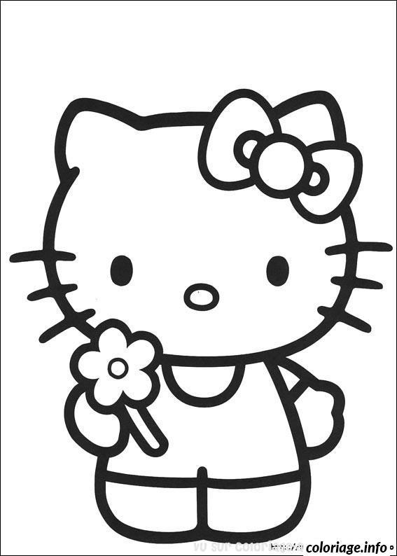 Dessin dessin hello kitty 143 Coloriage Gratuit à Imprimer