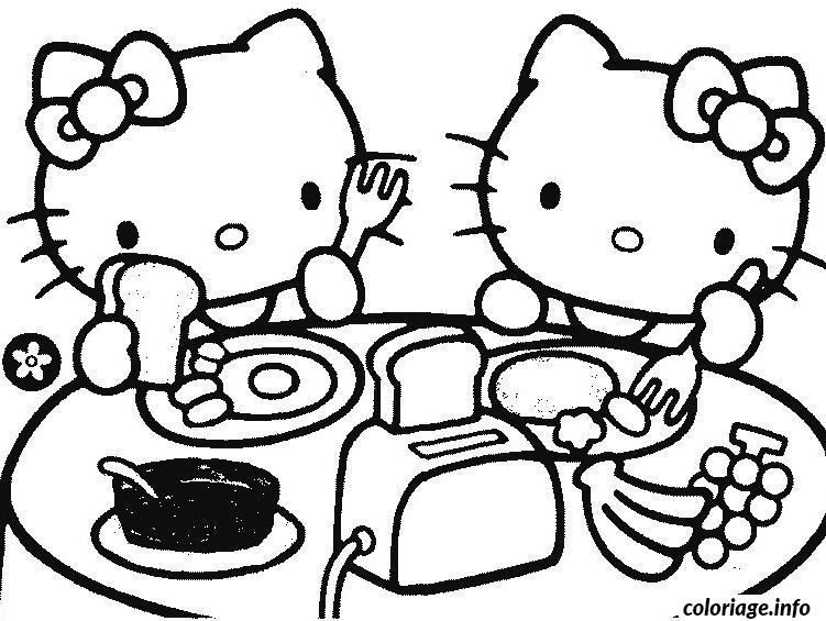 Dessin dessin hello kitty 231 Coloriage Gratuit à Imprimer