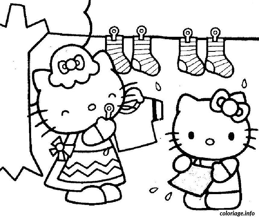 Dessin dessin hello kitty 97 Coloriage Gratuit à Imprimer