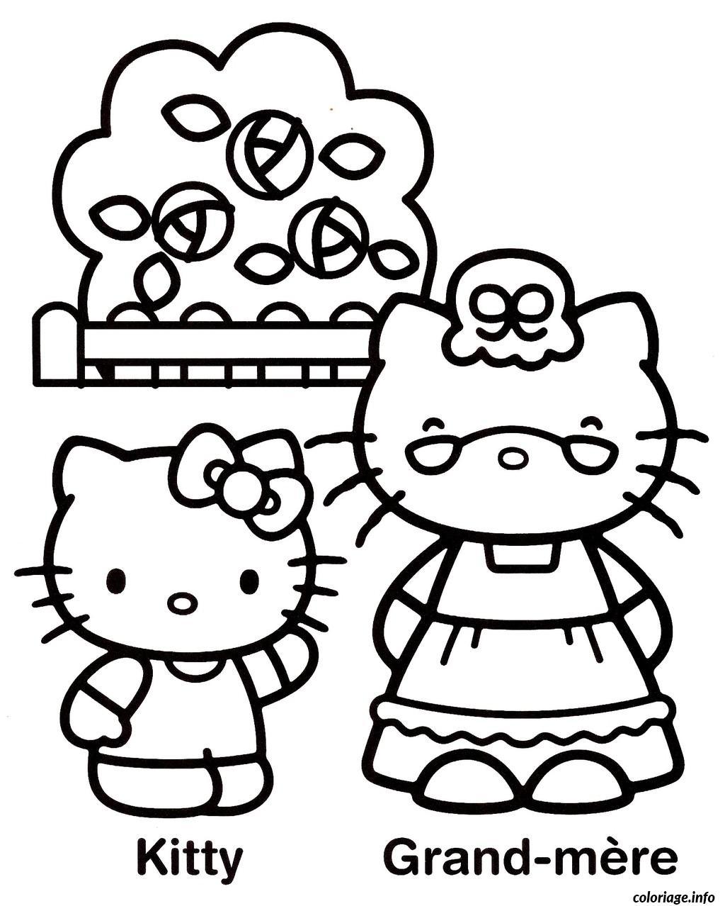 Dessin dessin hello kitty 238 Coloriage Gratuit à Imprimer