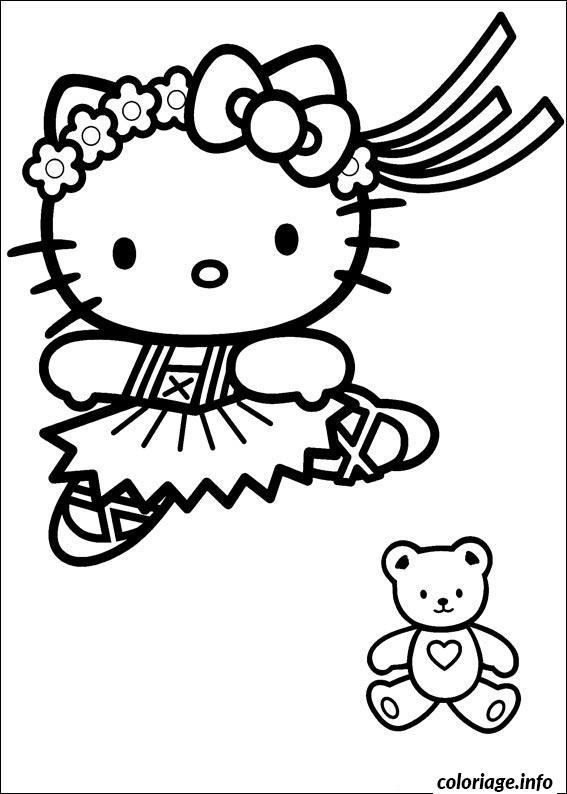 Dessin dessin hello kitty 286 Coloriage Gratuit à Imprimer