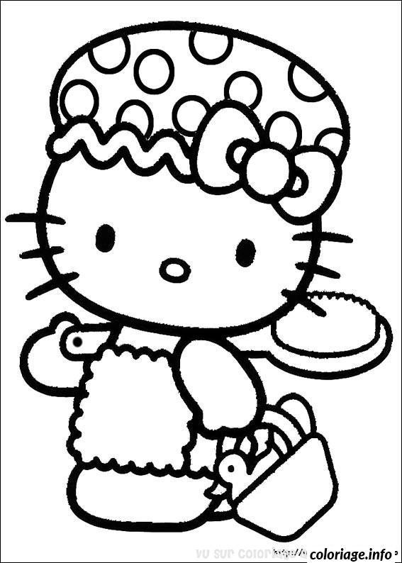 Dessin dessin hello kitty 5 Coloriage Gratuit à Imprimer