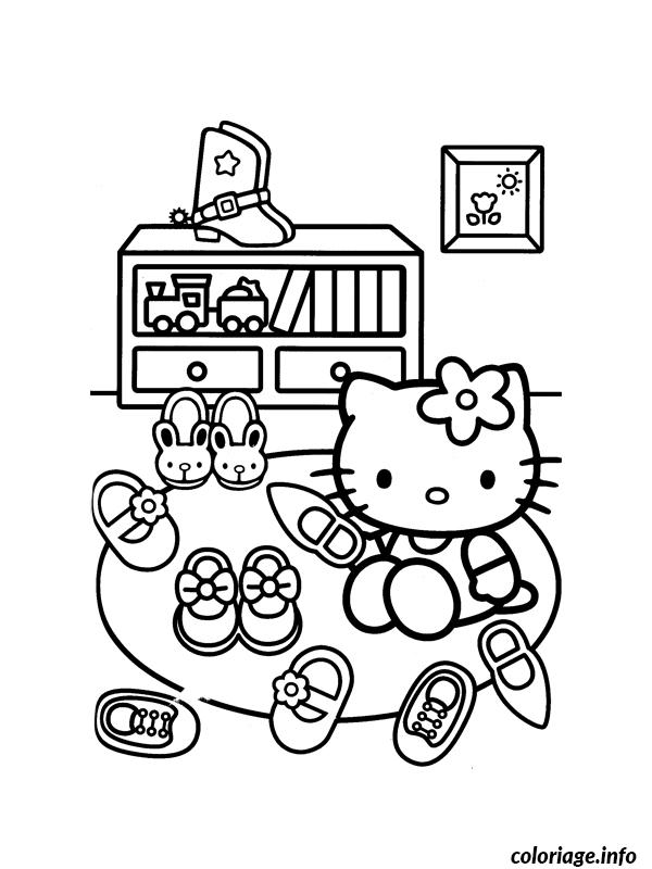 Coloriage Dessin Hello Kitty 126 Dessin à Imprimer
