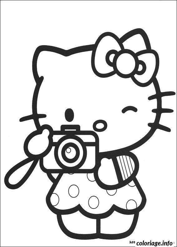 Dessin dessin hello kitty 8 Coloriage Gratuit à Imprimer