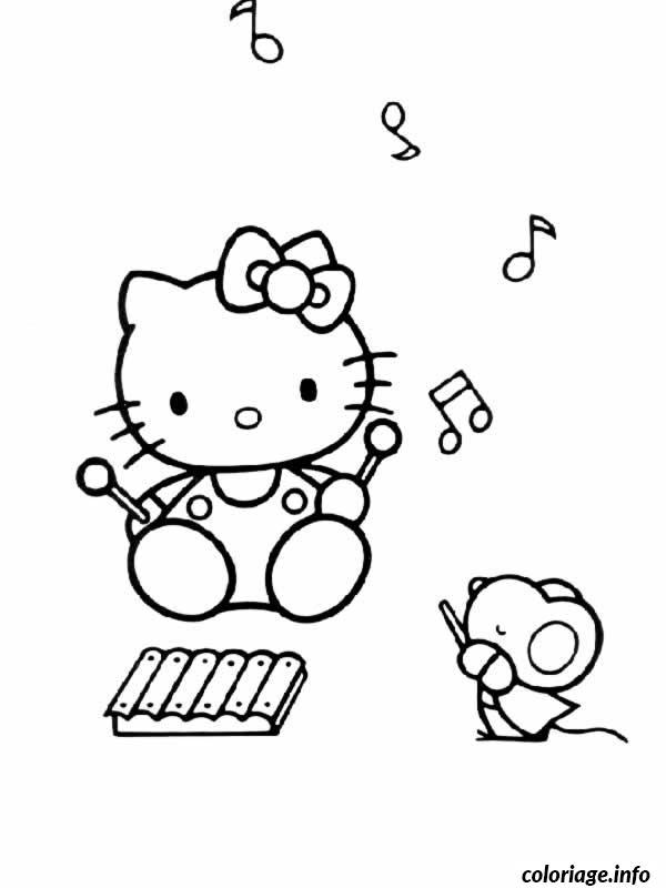 Dessin dessin hello kitty 294 Coloriage Gratuit à Imprimer