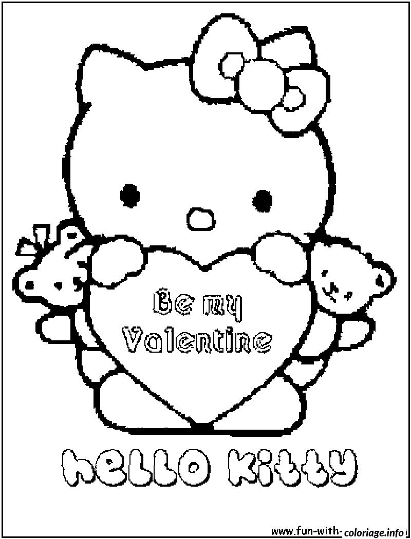 Dessin dessin hello kitty 92 Coloriage Gratuit à Imprimer