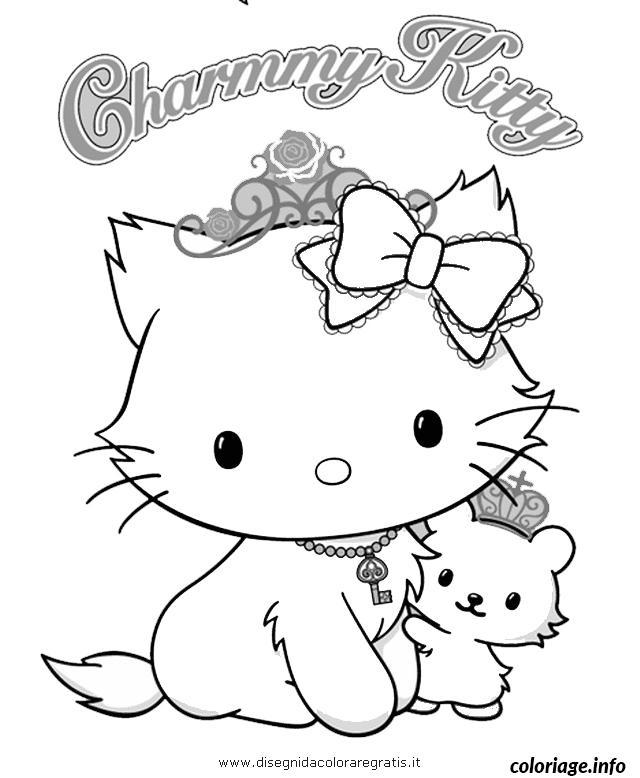 Dessin dessin hello kitty 127 Coloriage Gratuit à Imprimer