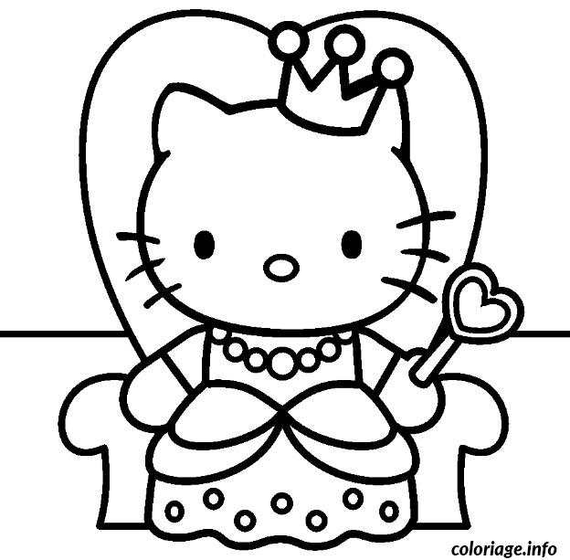 Charming Coloriage En Ligne Hello Kitty #13: Coloriage Dessin Hello Kitty 17 Dessin Gratuit