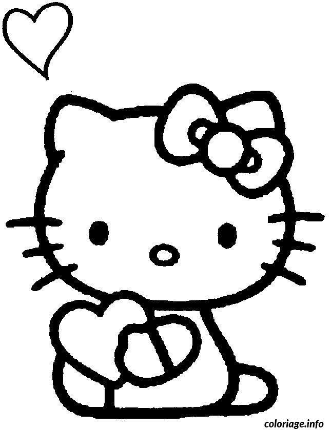 Dessin dessin hello kitty 34 Coloriage Gratuit à Imprimer