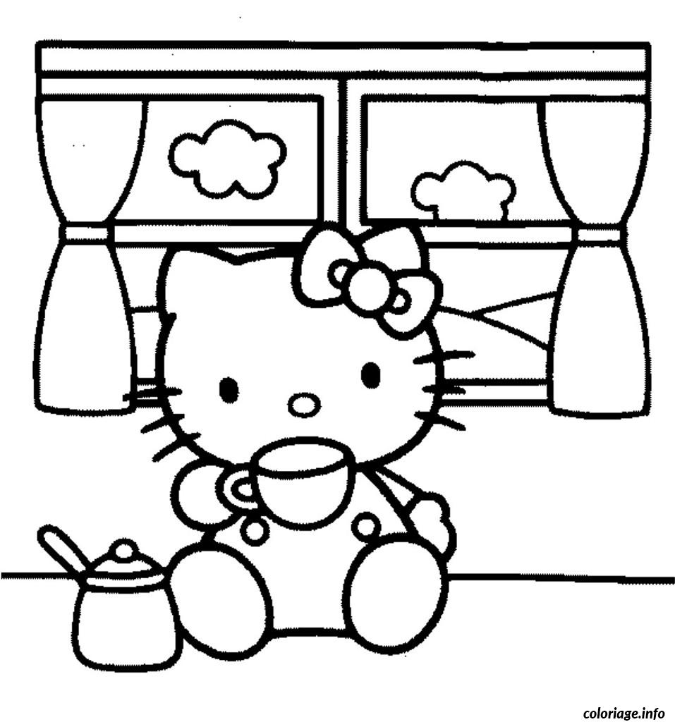 Dessin dessin hello kitty 93 Coloriage Gratuit à Imprimer