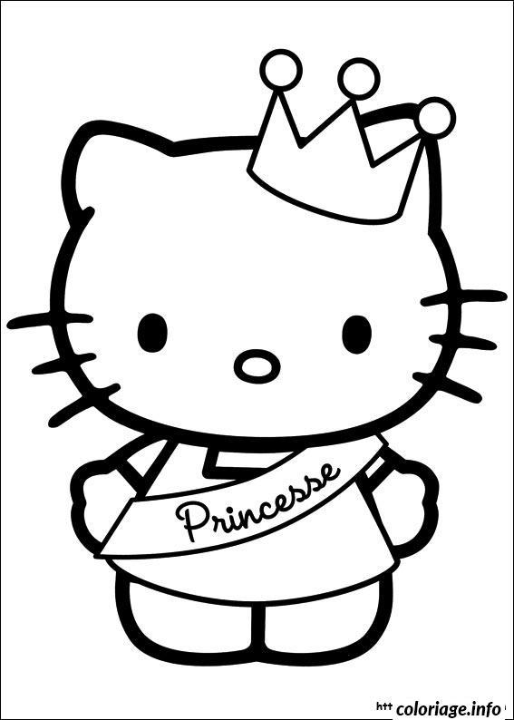 Dessin dessin hello kitty 177 Coloriage Gratuit à Imprimer