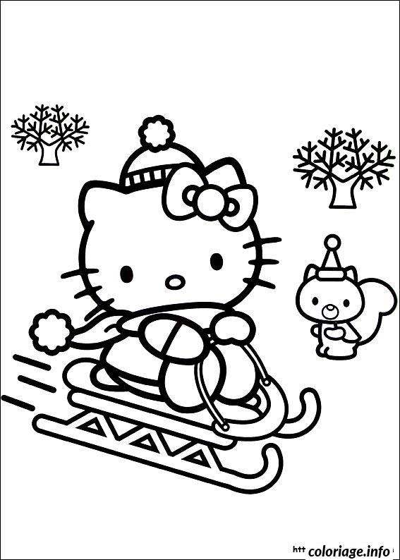 Dessin dessin hello kitty 82 Coloriage Gratuit à Imprimer