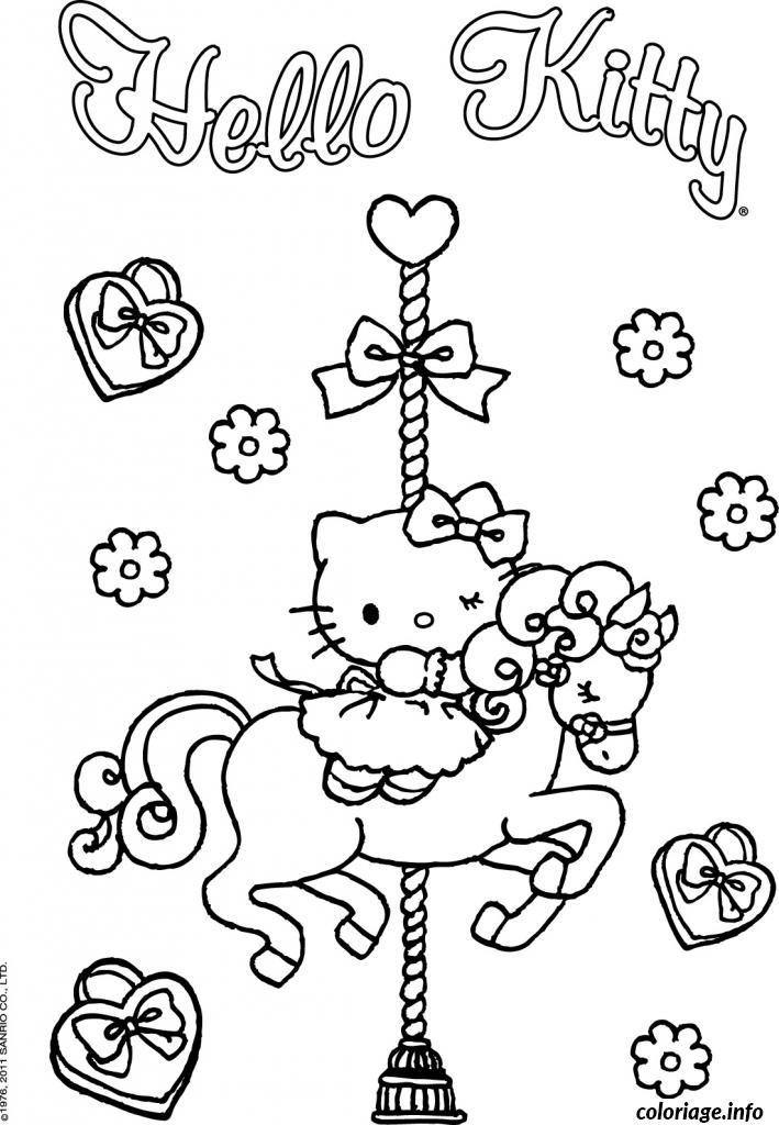 Dessin dessin hello kitty 182 Coloriage Gratuit à Imprimer