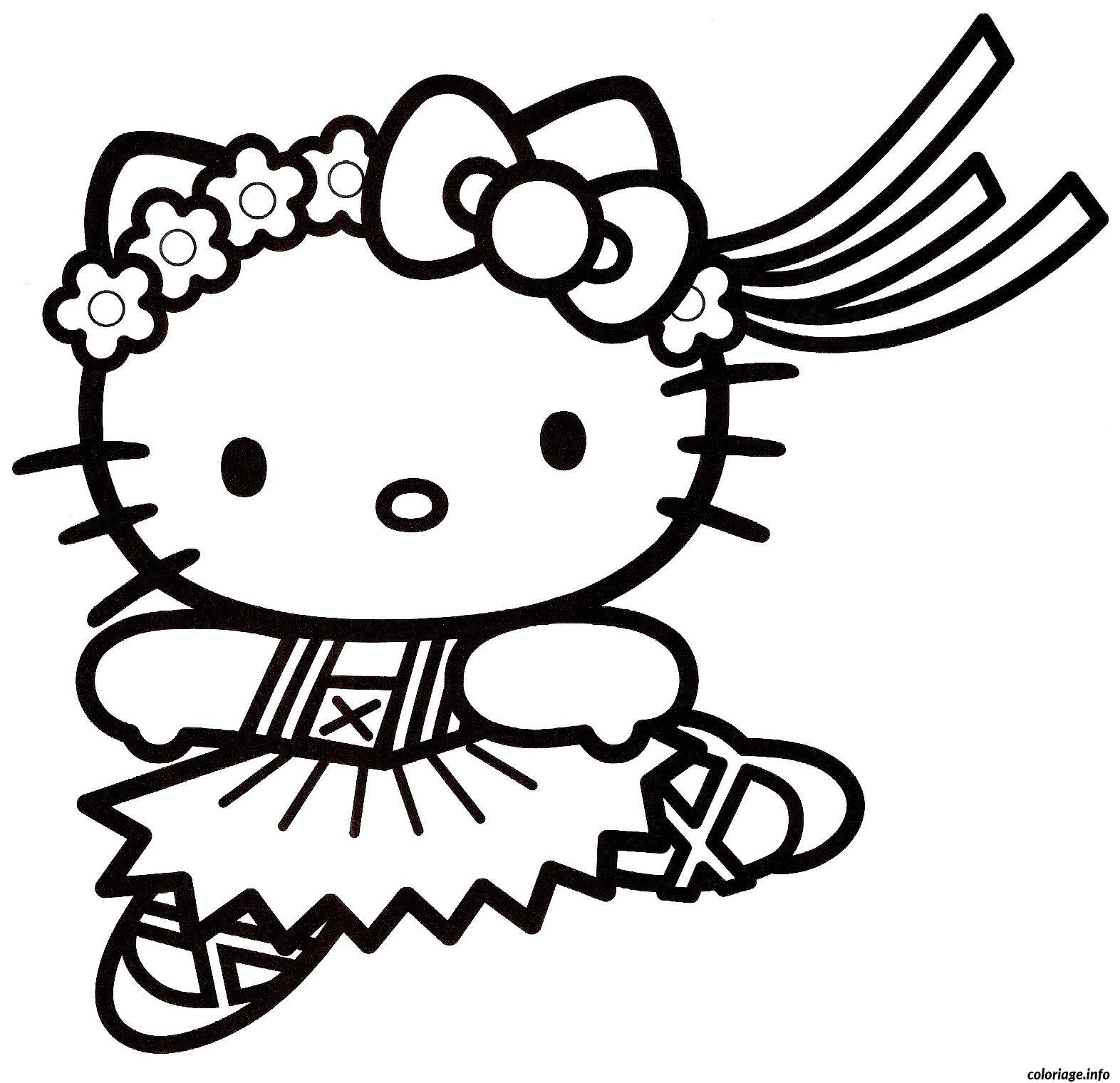 Coloriage dessin hello kitty 3 - Coloriage hello kitty jeux ...