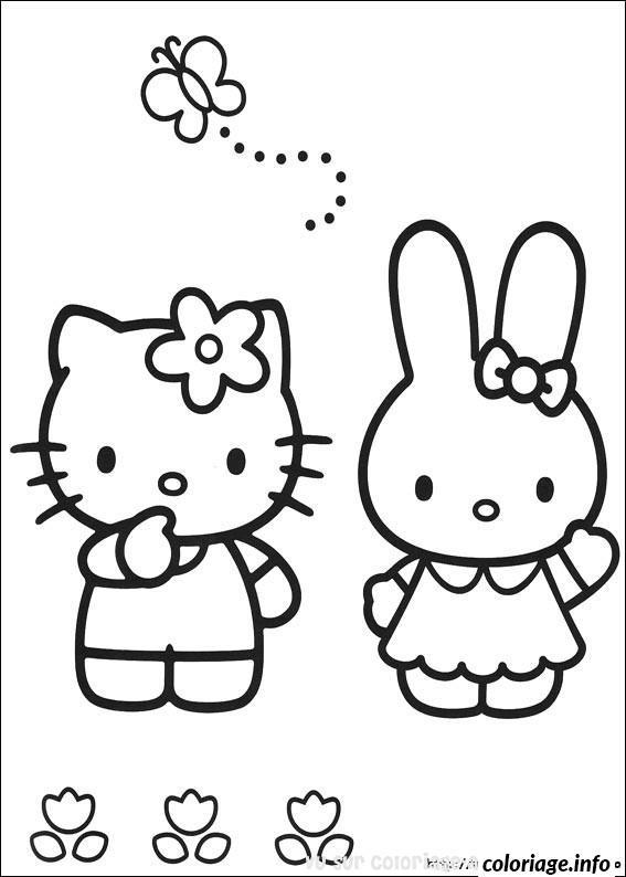 Dessin dessin hello kitty 96 Coloriage Gratuit à Imprimer