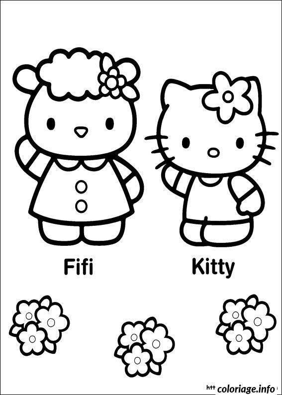Dessin dessin hello kitty 133 Coloriage Gratuit à Imprimer