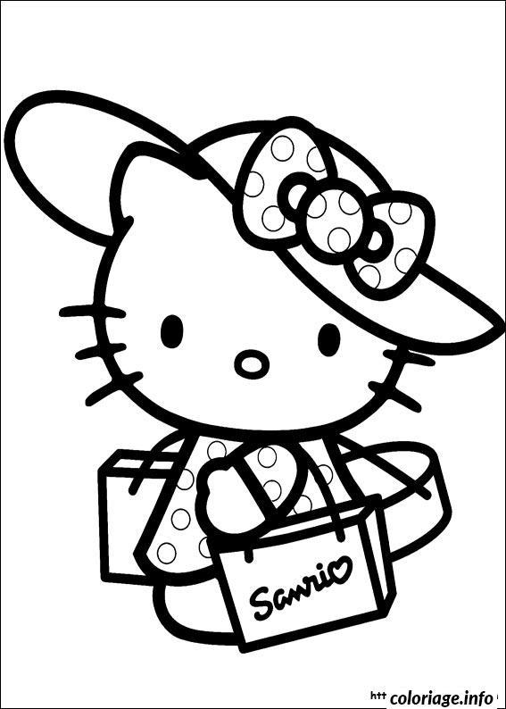 Dessin dessin hello kitty 29 Coloriage Gratuit à Imprimer