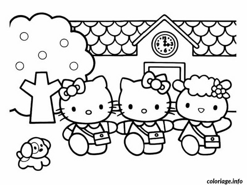 Dessin dessin hello kitty 14 Coloriage Gratuit à Imprimer