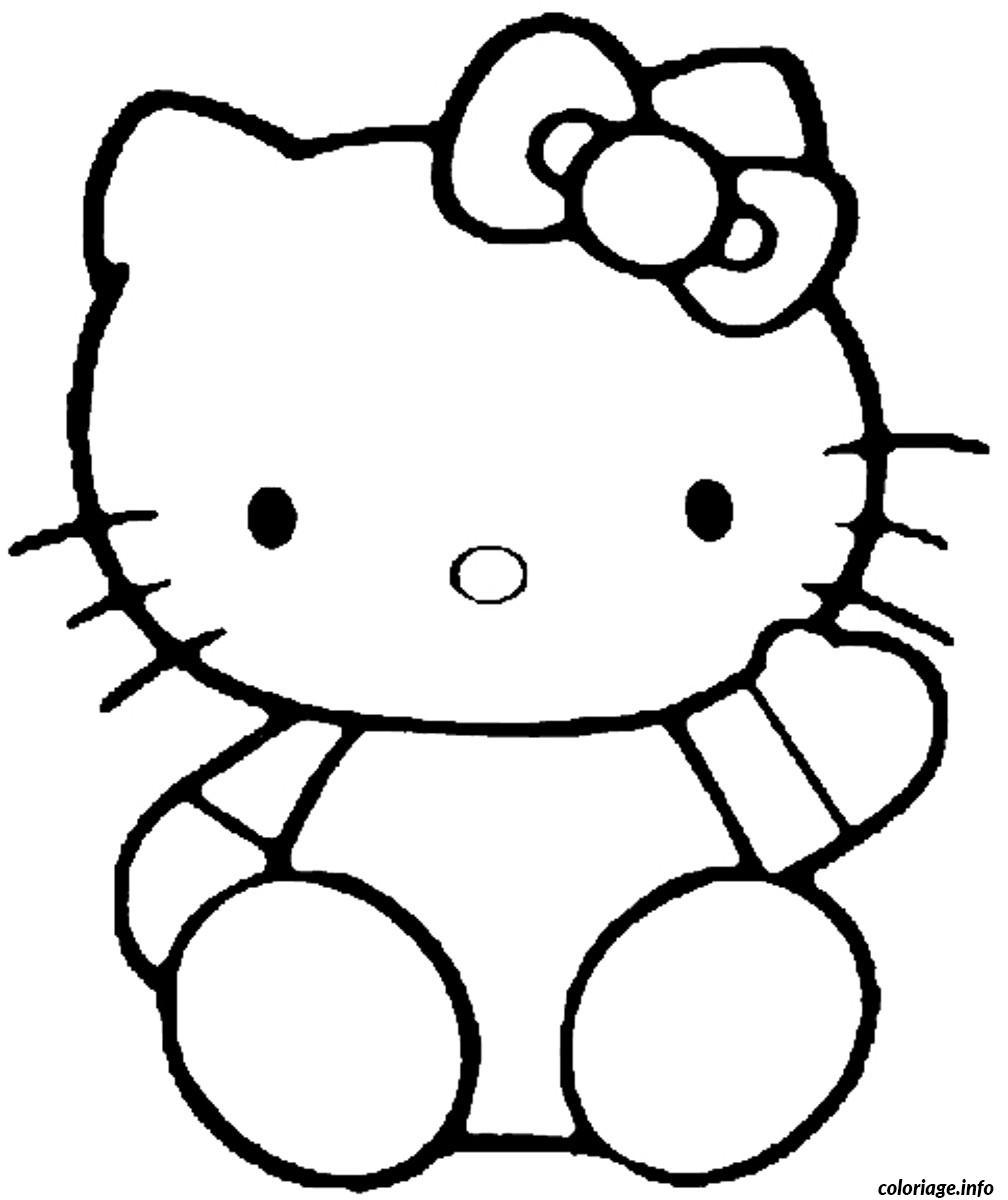 Dessin dessin hello kitty 45 Coloriage Gratuit à Imprimer