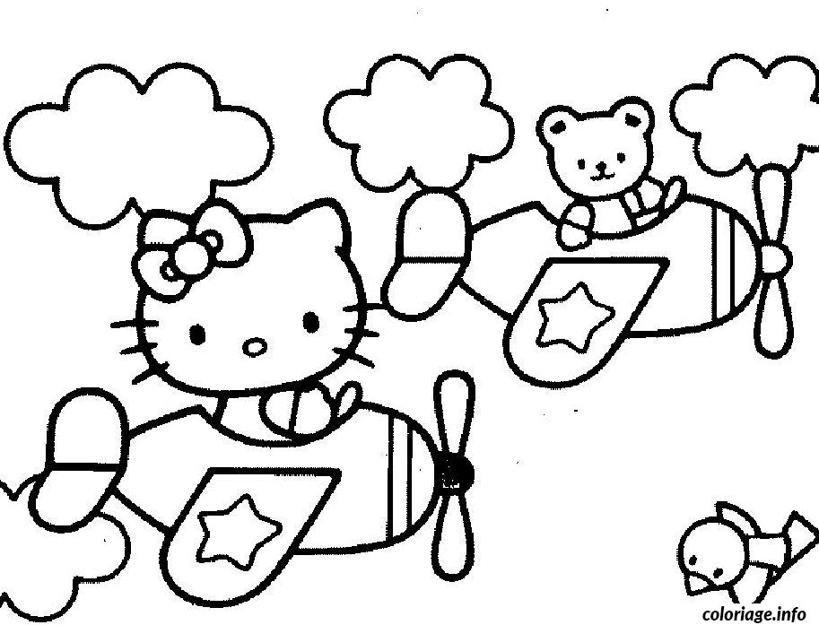 Coloriage dessin hello kitty 77 - Modele coloriage ...