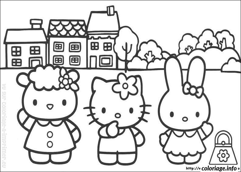 Dessin dessin hello kitty 95 Coloriage Gratuit à Imprimer