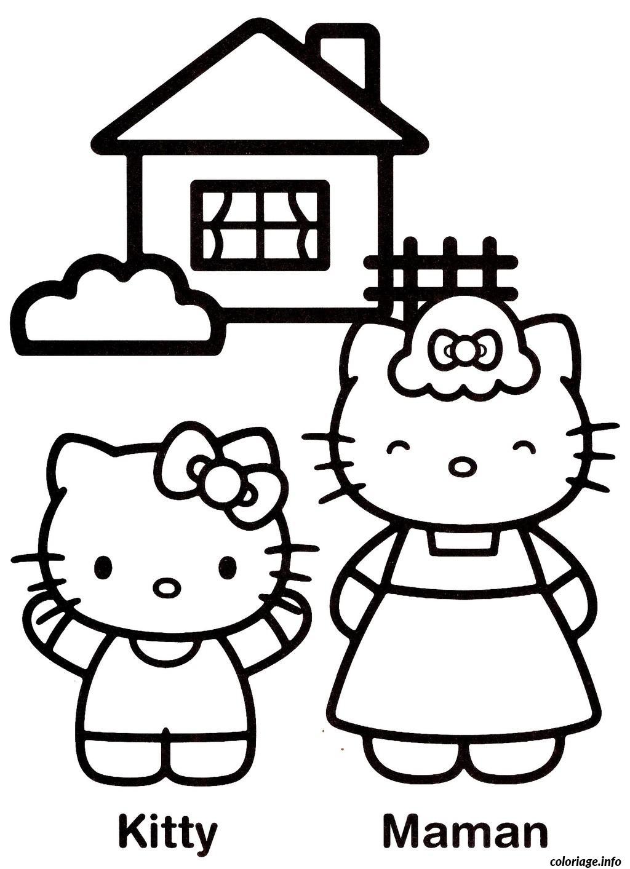 Dessin dessin hello kitty 147 Coloriage Gratuit à Imprimer
