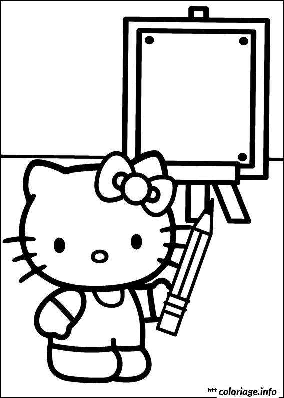 Dessin dessin hello kitty 241 Coloriage Gratuit à Imprimer