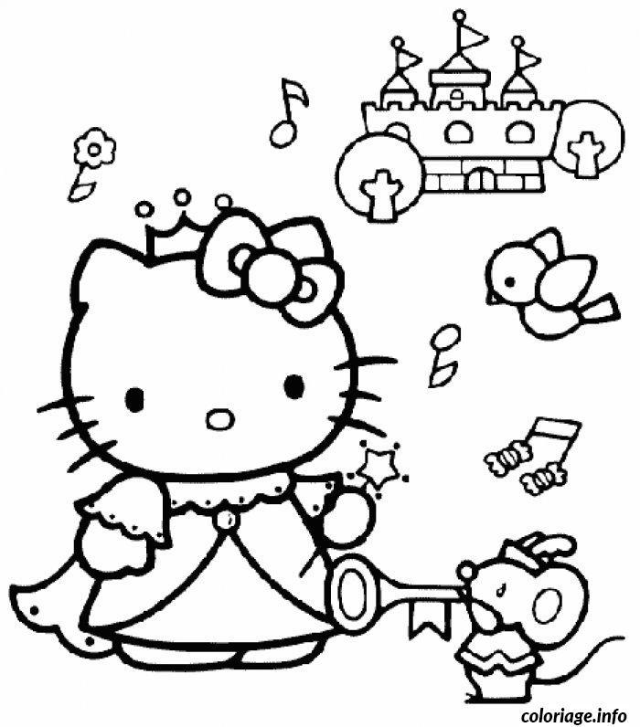 Dessin dessin hello kitty 85 Coloriage Gratuit à Imprimer