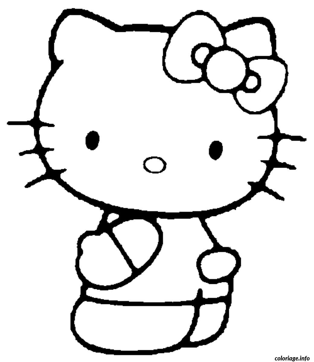 Coloriage dessin hello kitty 88 - Coloriage hello kitty coeur ...