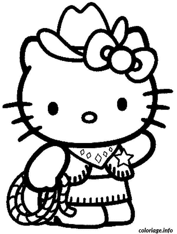 Coloriage dessin hello kitty 98 - JeColorie.com