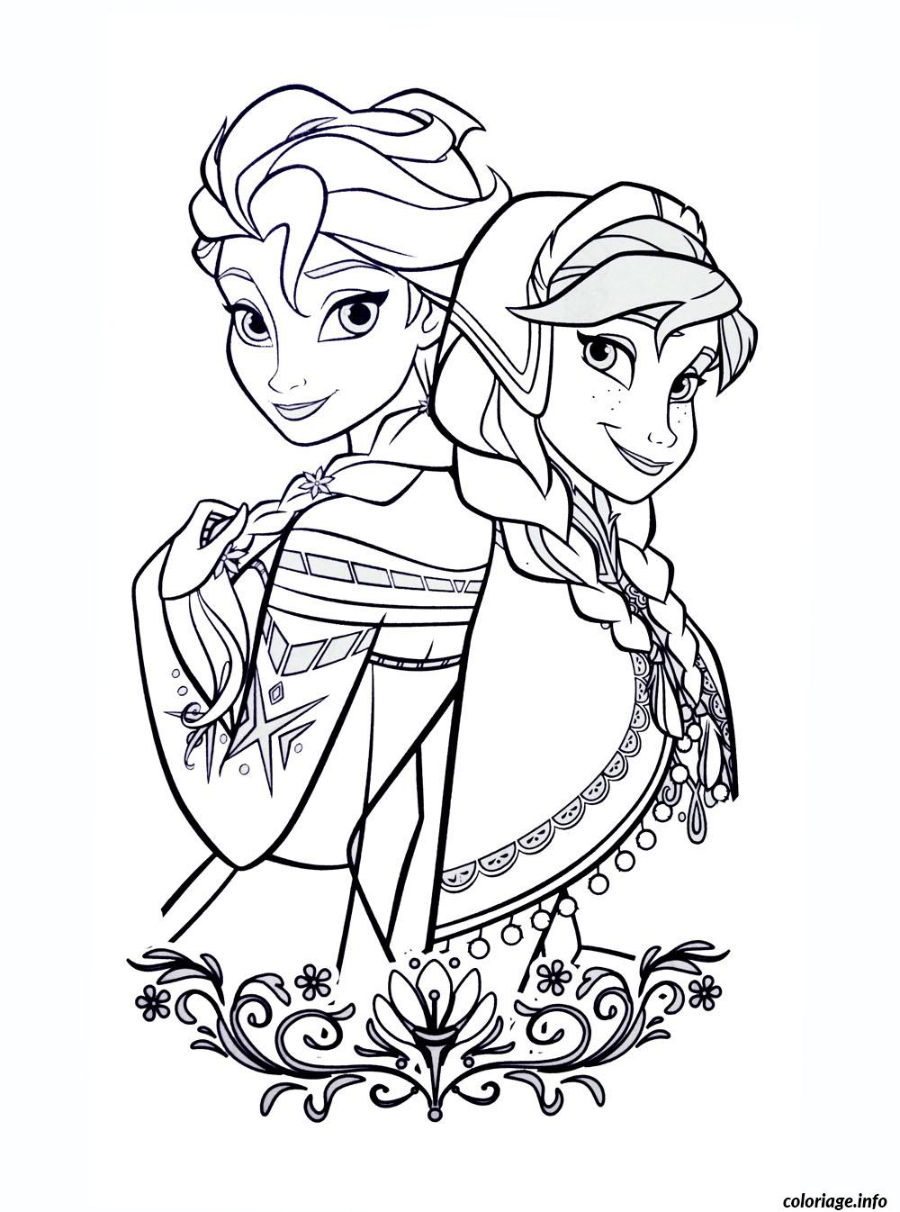 dessin la reine des neiges disney princesse coloriage 9314
