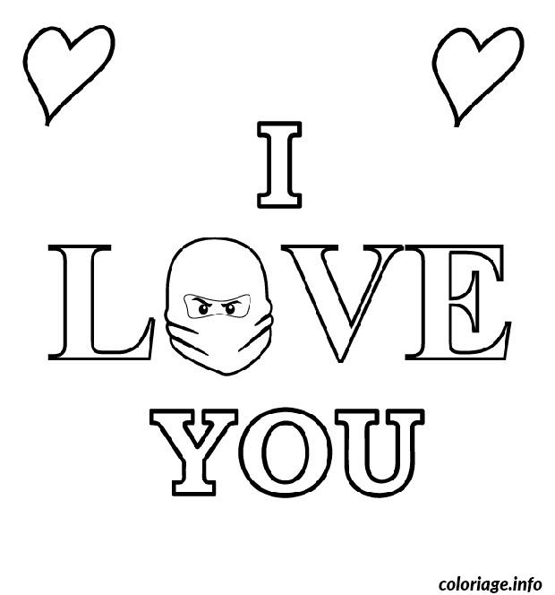 Dessin dessin i love you ninjago Coloriage Gratuit à Imprimer