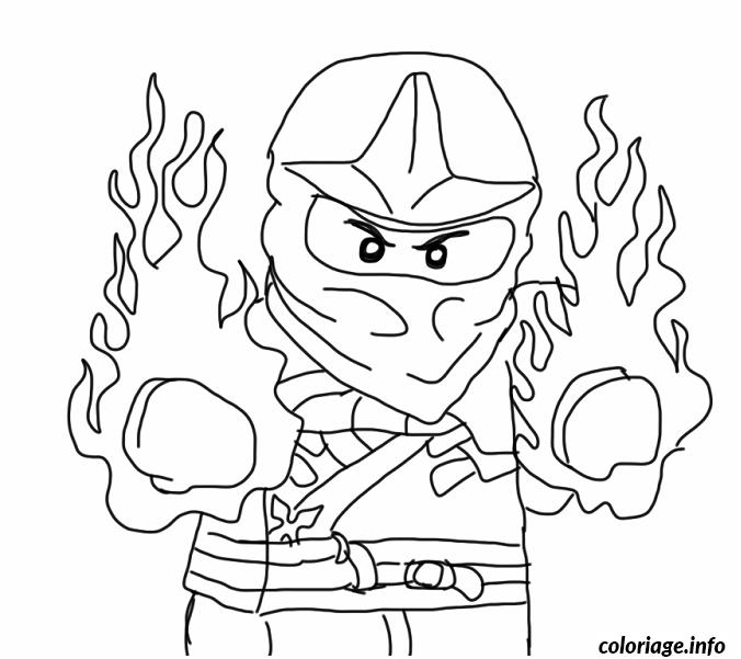 Dessin Ninjago en feu dessin Coloriage Gratuit à Imprimer