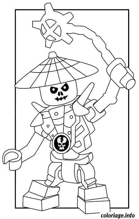 Dessin dessin ennemis squelette Ninjago 4 Coloriage Gratuit à Imprimer