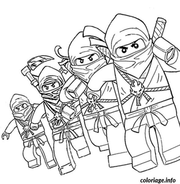 Coloriage dessin ninjago 4 ninjas dessin - Dessin de lego ninjago ...
