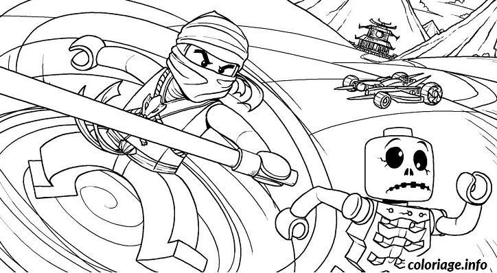 Dessin dessin ninjago tournade voiture zombie Coloriage Gratuit à Imprimer