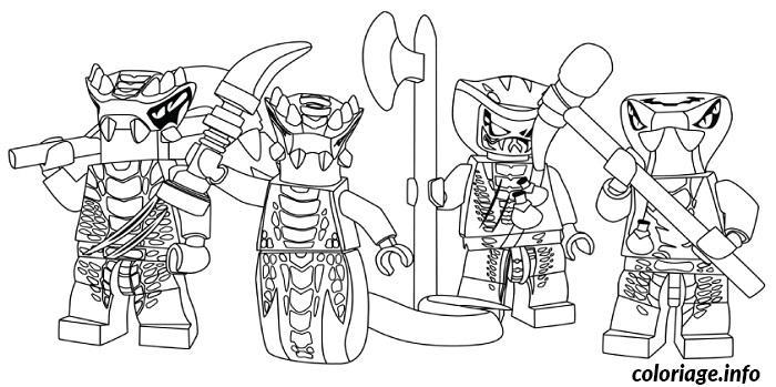 Dessin dessin ennemis serpent Ninjago 1 Coloriage Gratuit à Imprimer
