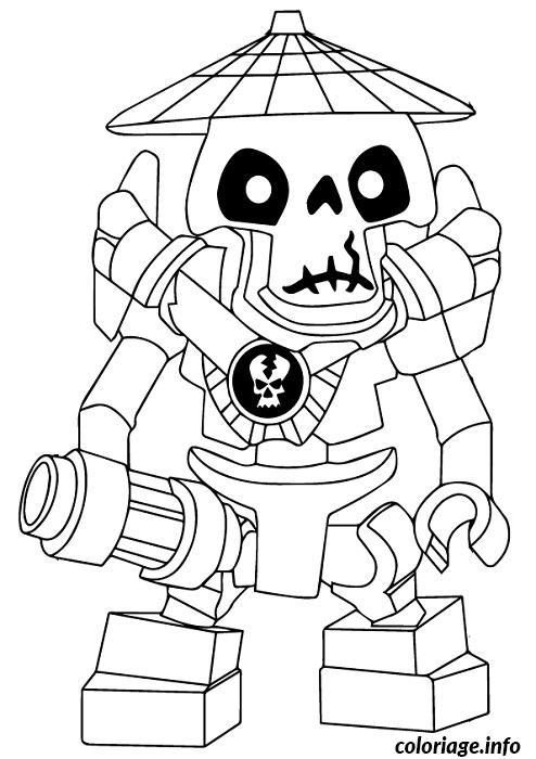 Dessin dessin ennemis squelette Ninjago 3 Coloriage Gratuit à Imprimer