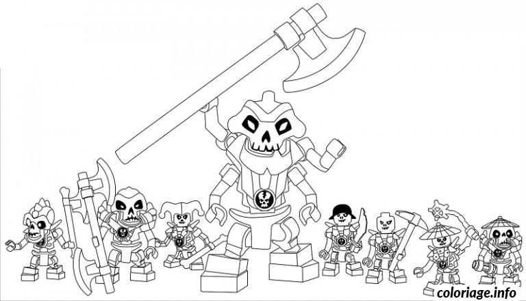 Dessin dessin ennemis squelette Ninjago Coloriage Gratuit à Imprimer