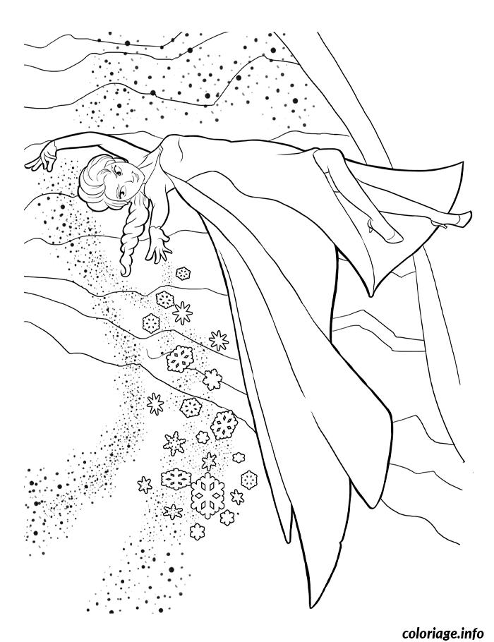 Dessin reine des neiges paysage de neige Coloriage Gratuit à Imprimer