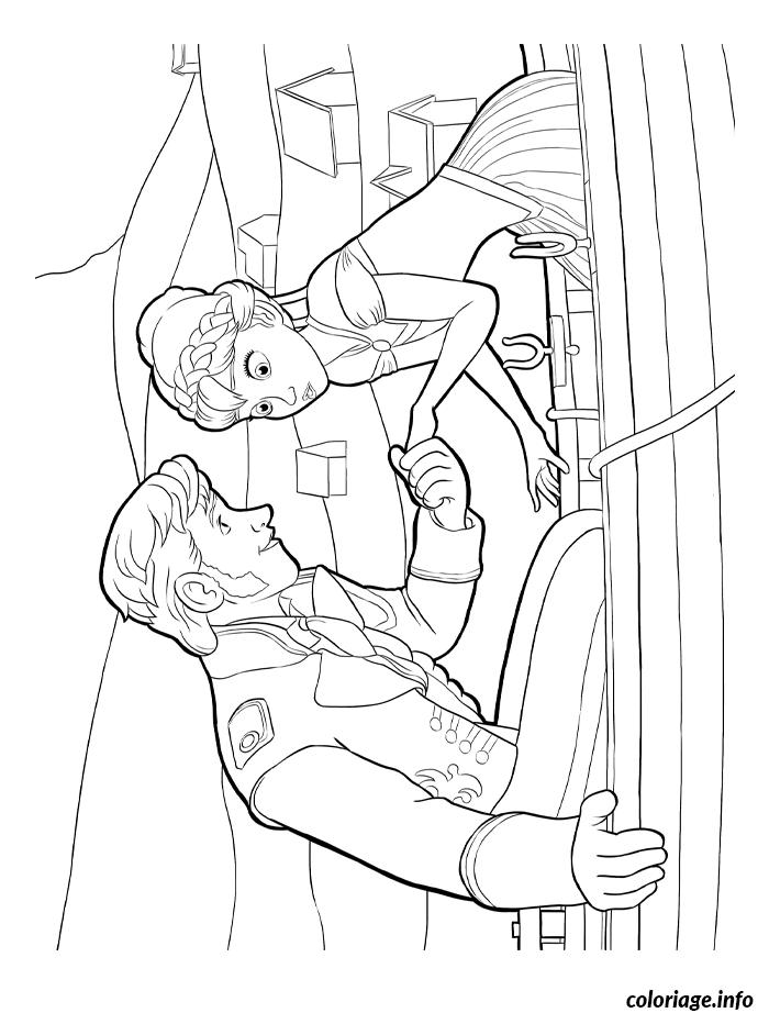 Dessin reine des neiges dessin avec prince hans Coloriage Gratuit à Imprimer