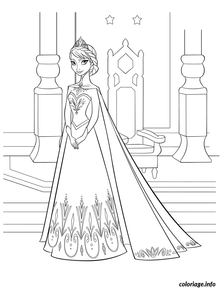 reine des neiges elsa disney coloriage dessin 9402