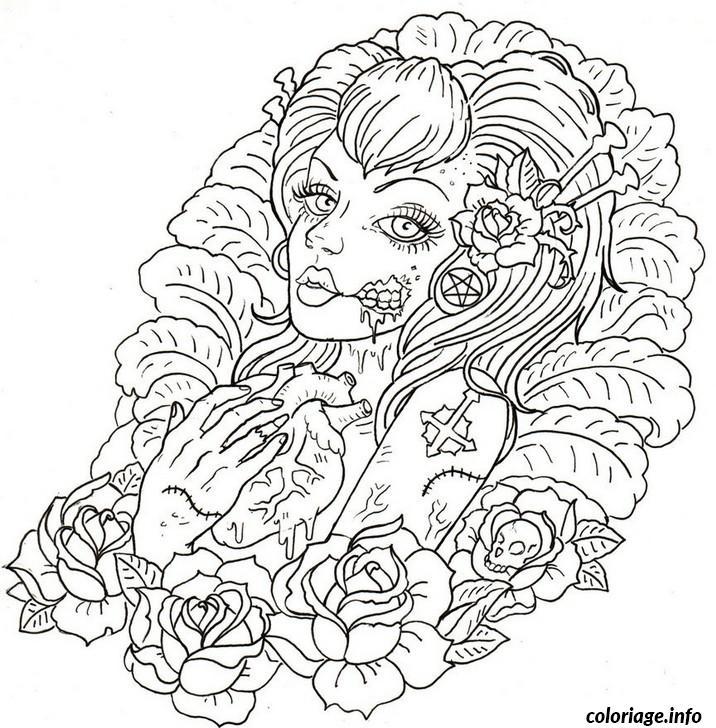Dessin adulte dessin 10 Coloriage Gratuit à Imprimer