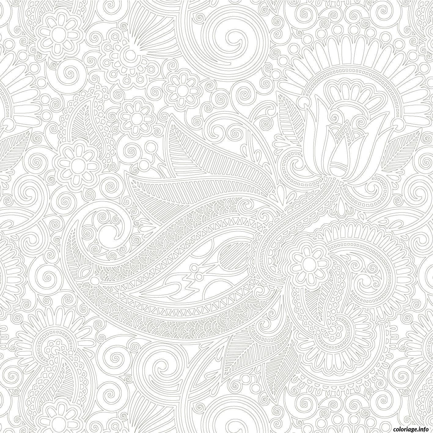 Dessin dessin adulte antistress inspiration zen 70 Coloriage Gratuit à Imprimer