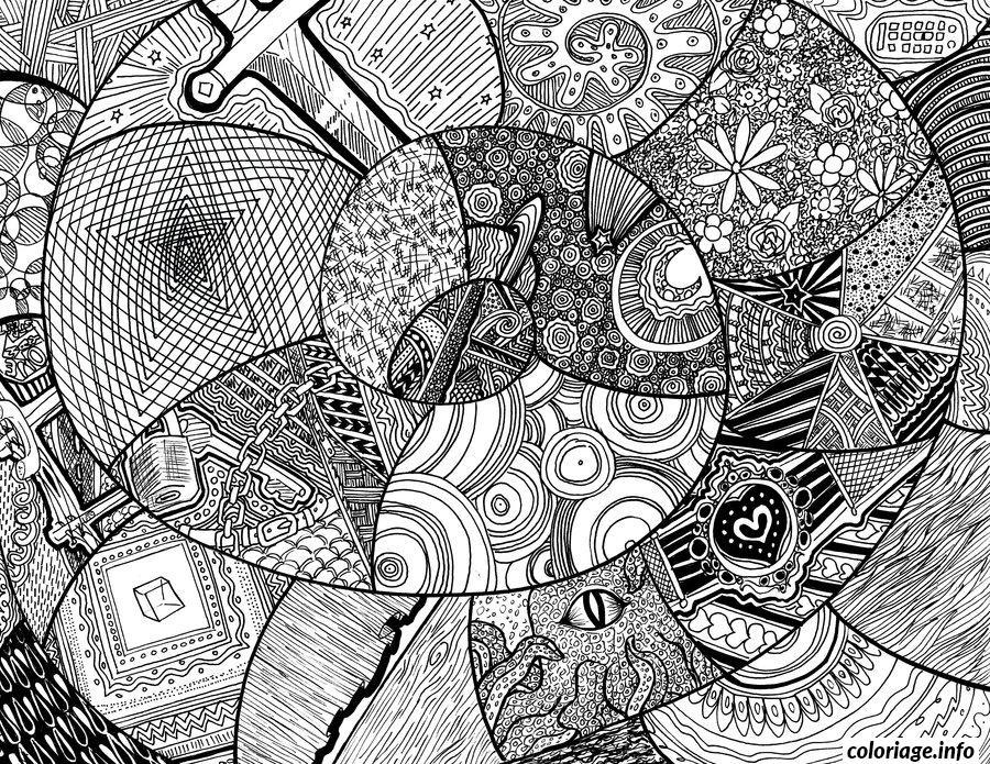 Dessin dessin adulte antistress inspiration zen 27 Coloriage Gratuit à Imprimer