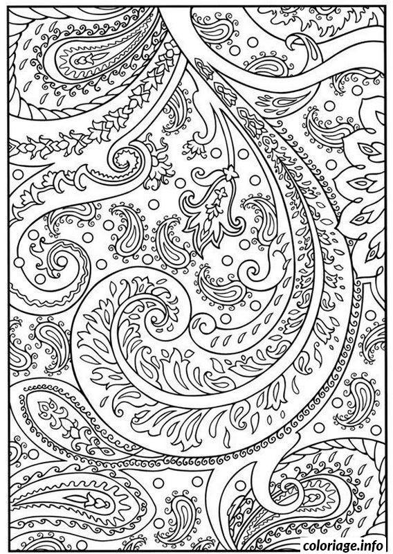Dessin dessin adulte antistress inspiration zen 125 Coloriage Gratuit à Imprimer