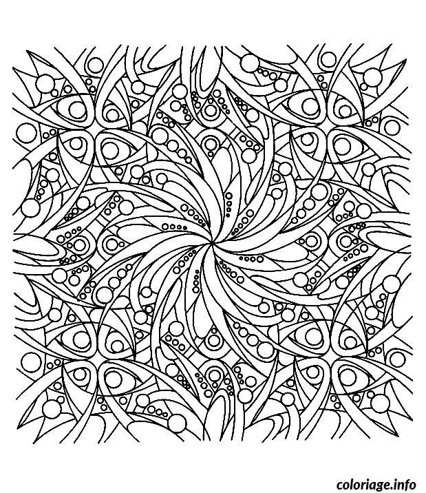 Dessin dessin adulte antistress inspiration zen 17 Coloriage Gratuit à Imprimer