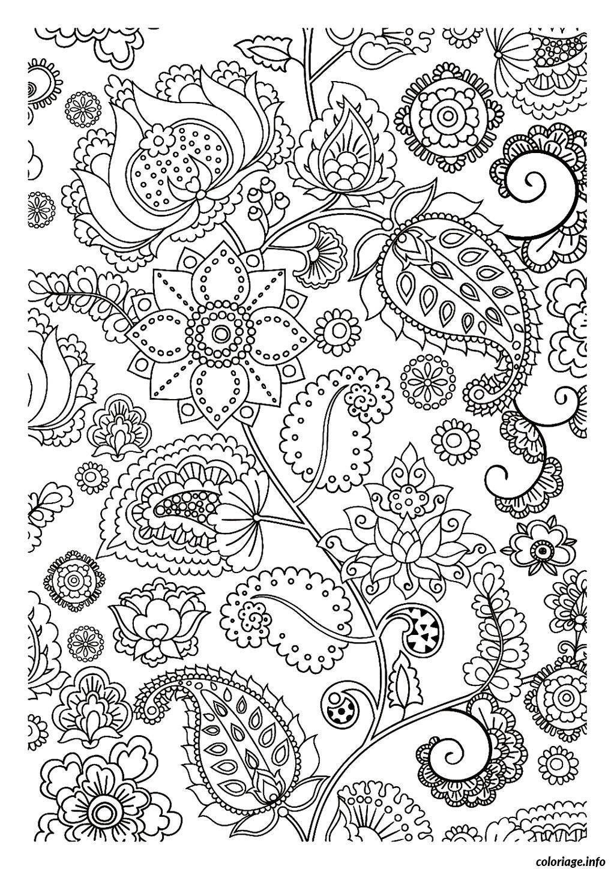 Dessin dessin adulte antistress inspiration zen 99 Coloriage Gratuit à Imprimer