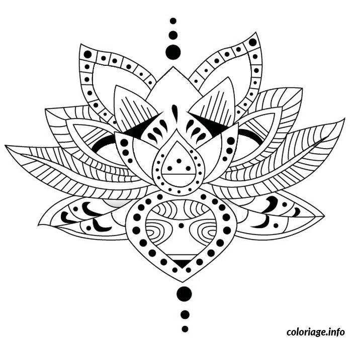 Dessin dessin adulte antistress inspiration zen 48 Coloriage Gratuit à Imprimer